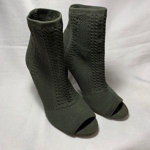 Anne Michelle Open Toe Sock Bootie